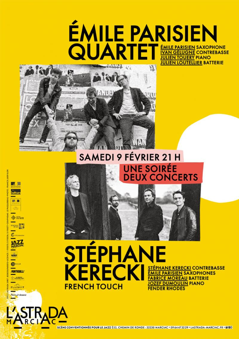 "Stéphane Kerecki ""French Touch"" + Emile Parisien 4tet"