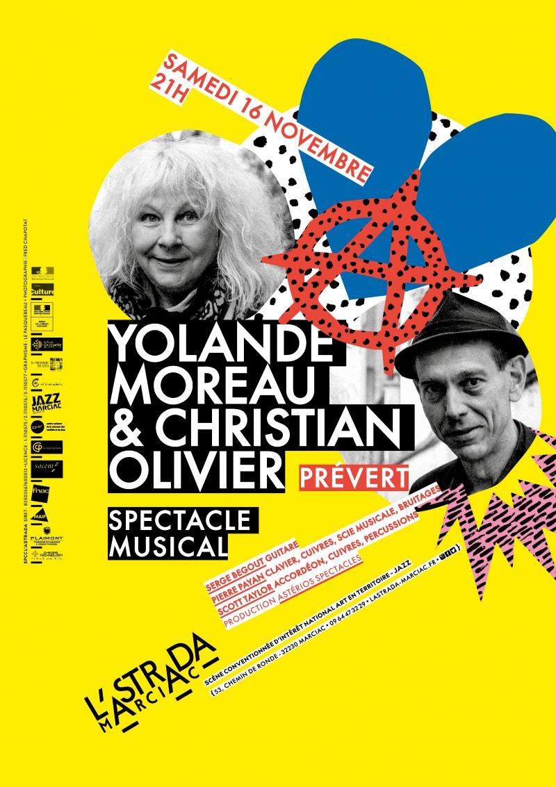 "Yolande Moreau & Christian Olivier ""Prévert"""